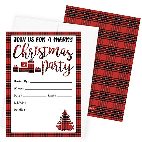 Top 10 best christmas party invitations with envelopes: Which is the best one in 2020?
