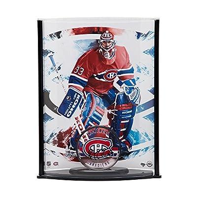 PATRICK ROY Autographed Acrylic Montreal Canadiens Puck & Curve Display UDA