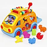 #5: Toy Musical Animal School Bus - iPlay,iLearn Math Counting Car Toys for Toddlers & Kids, Educational, Magic Music Education Games, Puzzle, Songs