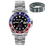Whatswatch 40mm Parnis Sapphire Glass GMT Master Red&Blue Bezel Men Automatic Watch PA-0034