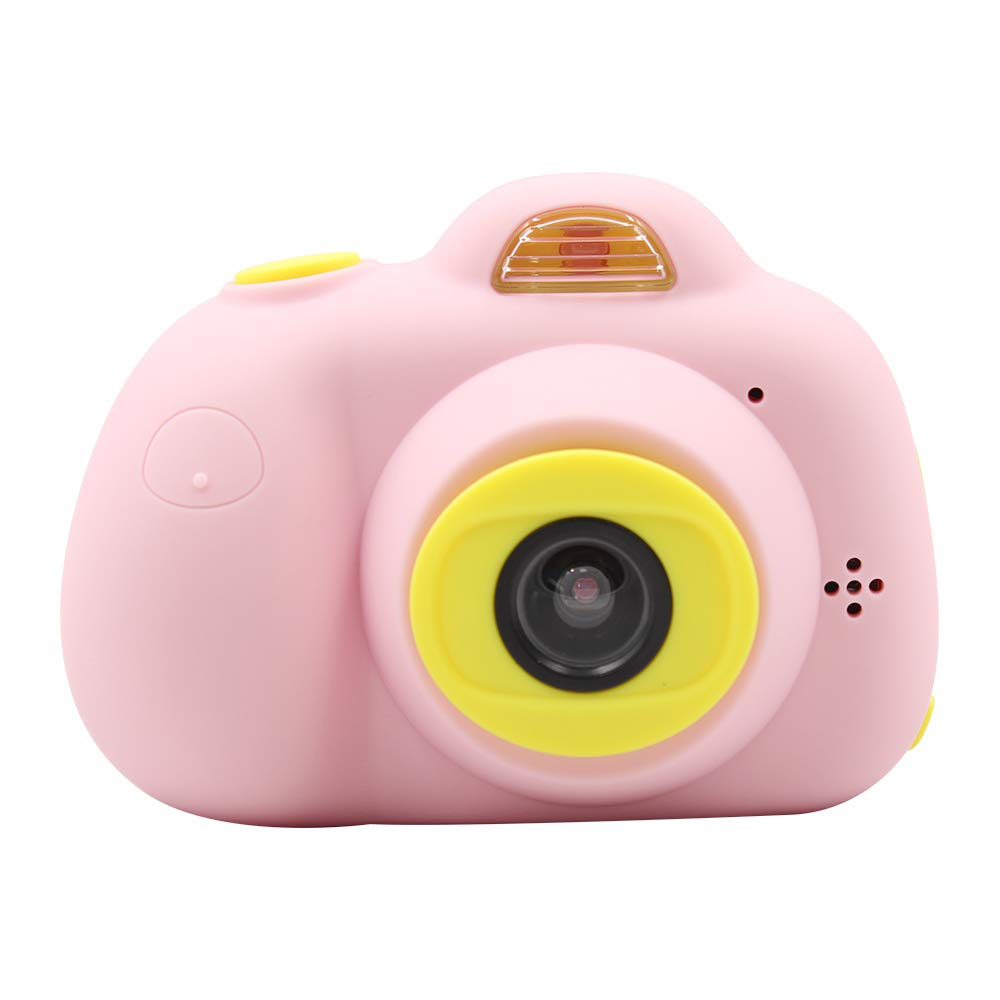 Tueker Kids Camera Toys Gifts for 4~8 Years Old Girls, Shockproof Kids Video Camera & Camcorder with Soft Silicone Shell for Outdoor Play, Pink by Tueker (Image #2)