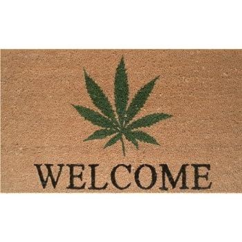 Amazon Com Marijuana Weed Leaf Door Mats Cover Non Slip