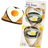 2 Set Egg Rings Heart Shape Metal Molds for Fried Eggs & Pancakes