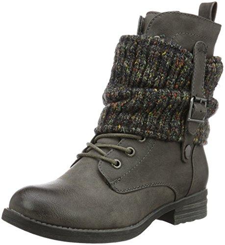 Jane Klain Damen Stiefelette Combat Boots Grau (210 GRAPHITE)