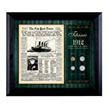 American Coin Treasures New York Times Titanic 1912 U.S. Mint Coin Collection Framed 4 Coins