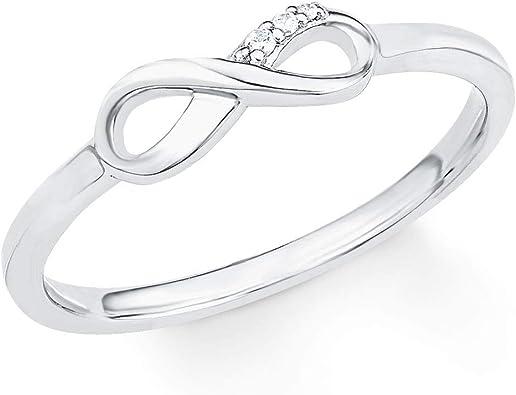 s.Oliver Ring für Damen Infinity, 925er Sterling Silber