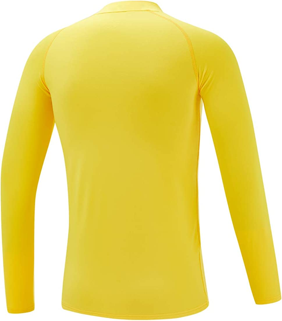 Devoropa Youth Boys Compression Thermal Shirt Long Sleeve Fleece Baselayer Soccer Baseball Undershirt