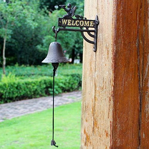[해외]CKH Angel Vintage Welcome to Double-Sided Listing Door Bell Welcomene Nordic Country Cast Iron Wrought Iron Hand Bell Door Bell / CKH Angel Vintage Welcome to Double-Sided Listing Door Bell Welcomene Nordic Country Cast Iron Wrough...