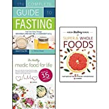 img - for complete guide to fasting, hidden healing powers of super & whole foods and healthy medic food for life 3 books collection set - heal your body through intermittent book / textbook / text book