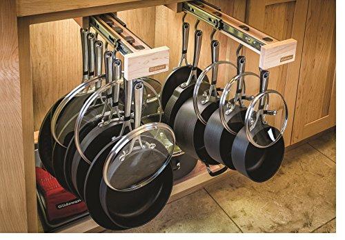 Dual-ing Glideware Cookware Organizer with 14 Hooks by Glideware, LLC by Glideware (Image #1)