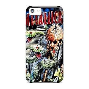InesWeldon Iphone 5c Great Cell-phone Hard Cover Customized Trendy Metallica Series [LlU19535OStj]