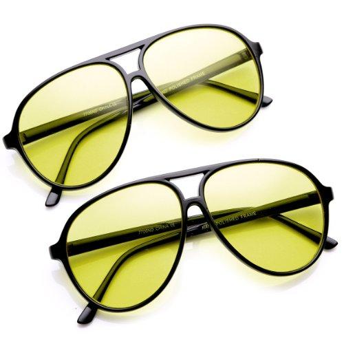 zeroUV Driving Plastic Aviator Sunglasses