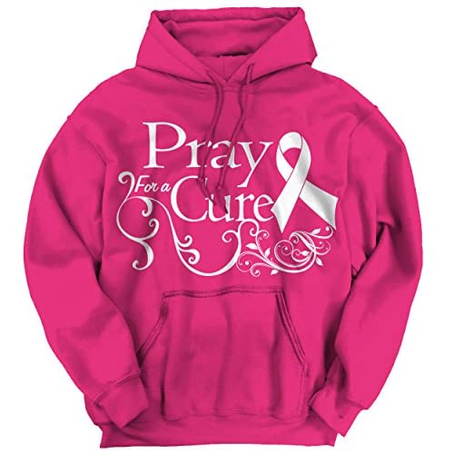850b3849 Pray For A Cure Breast Cancer Awareness Pink T Womens Clothes Hoodie  Sweatshirt lovely