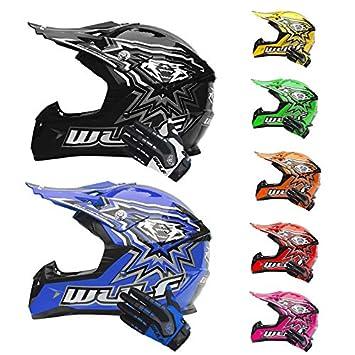 Wulfsport Kids Flite Motocross Motorbike Helmet off Road + Wulfsport Attack Motorcycle Gloves - Orange Helmet M (49-50cm) & XXS Gloves (6cm)