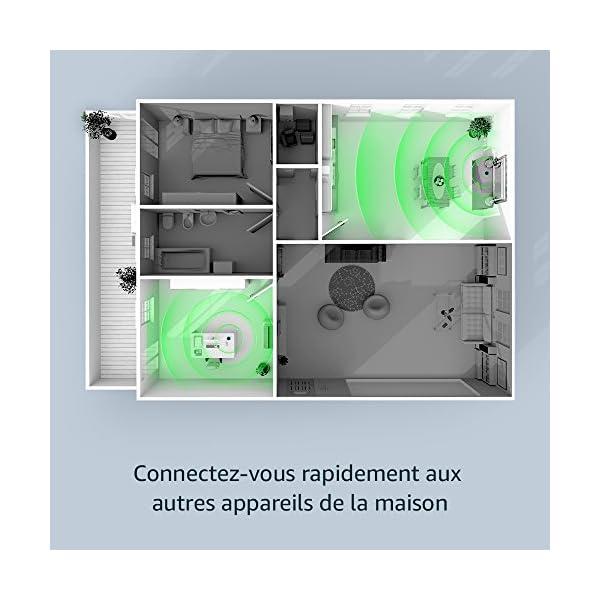 Amazon Echo (2ème génération), Enceinte connectée avec Alexa, Tissu gris chiné 4
