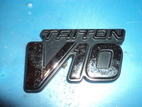 2 Ford Super Duty Triton V10 Fender Emblem Chrome Black New OEM 1999-2004