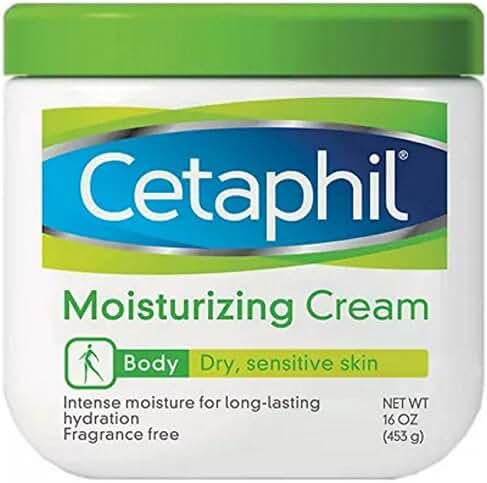 Cetaphil Moisturizing Cream for Dry/Sensitive Skin, Fragrance Free 16 oz