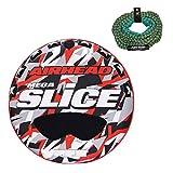 #9: Kwik Tek Airhead Mega Slice 4-Rider Towable Tube Raft with 60-Foot Rope