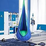 CO-Z Kids Hammock Swing Hanging Chair Swing Seat Hammock Pod Nook (Blue)