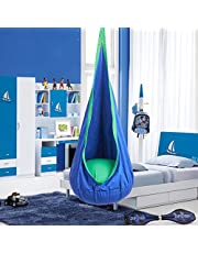 CO-Z Kids Child Hanging Chair Cocoon Swing Seat Hammock Pod Nook (Green)