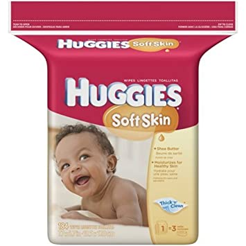 Huggies Baby Wipes 184 CT (Pack of 6)