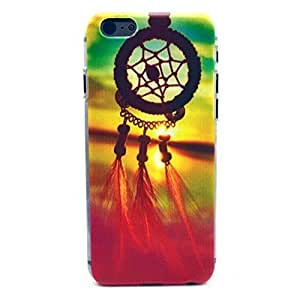 iPhone 6 Case, iPhone 6 (4.7 Inch) Case - Sunshine Case Fashion Style Colorful Painted Red Feather And Net Clear Bumper Hard Case Back Cover Protector Skin For iPhone 6 4.7Inch (Red Feather And Net)