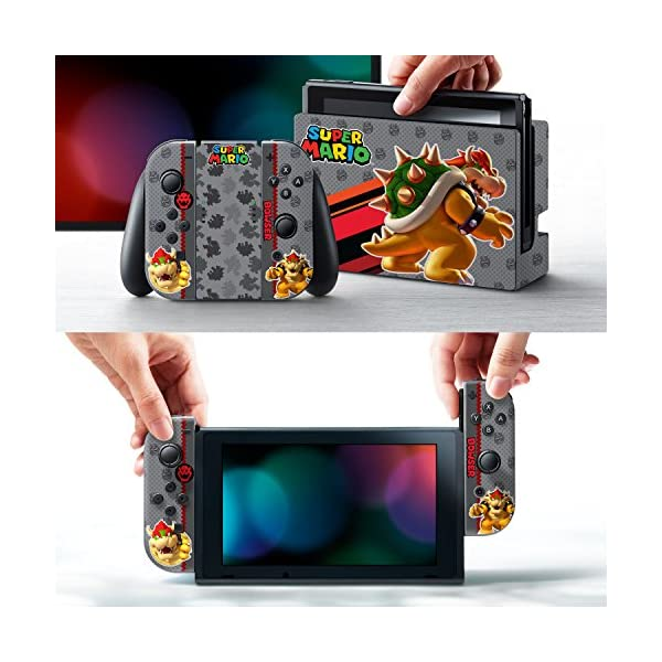 "Controller Gear Nintendo Switch Skin & Screen Protector Set, Officially Licensed By Nintendo - Super Mario Evergreen ""Bowser"" - Nintendo Switch 2"