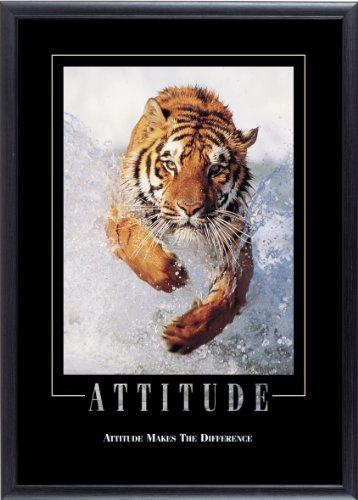 Stewart Superior -Attitude- Motivational Framed Poster Wall Art, 29 x 21 Inches (MPI006)