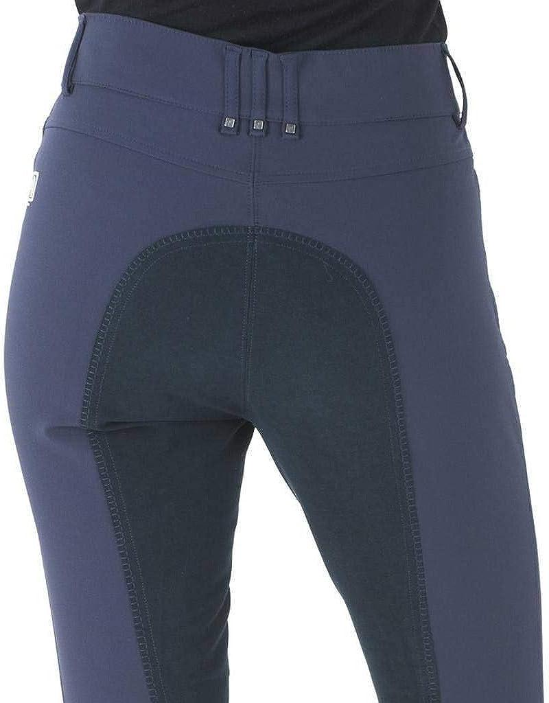 (28, Navy/Navy) - Romfh Women's LDS Sarafina Microfiber Soft Full Seat Breeches