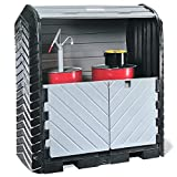 """New Pig PAK601 Low-Density Polyethylene Roll Top Hardcover Spill Pallet with Drain, 4500 lbs Load Capacity, 67-1/2"""" Width x 74"""" Height x 41-1/4"""" Depth, Black/Gray"""