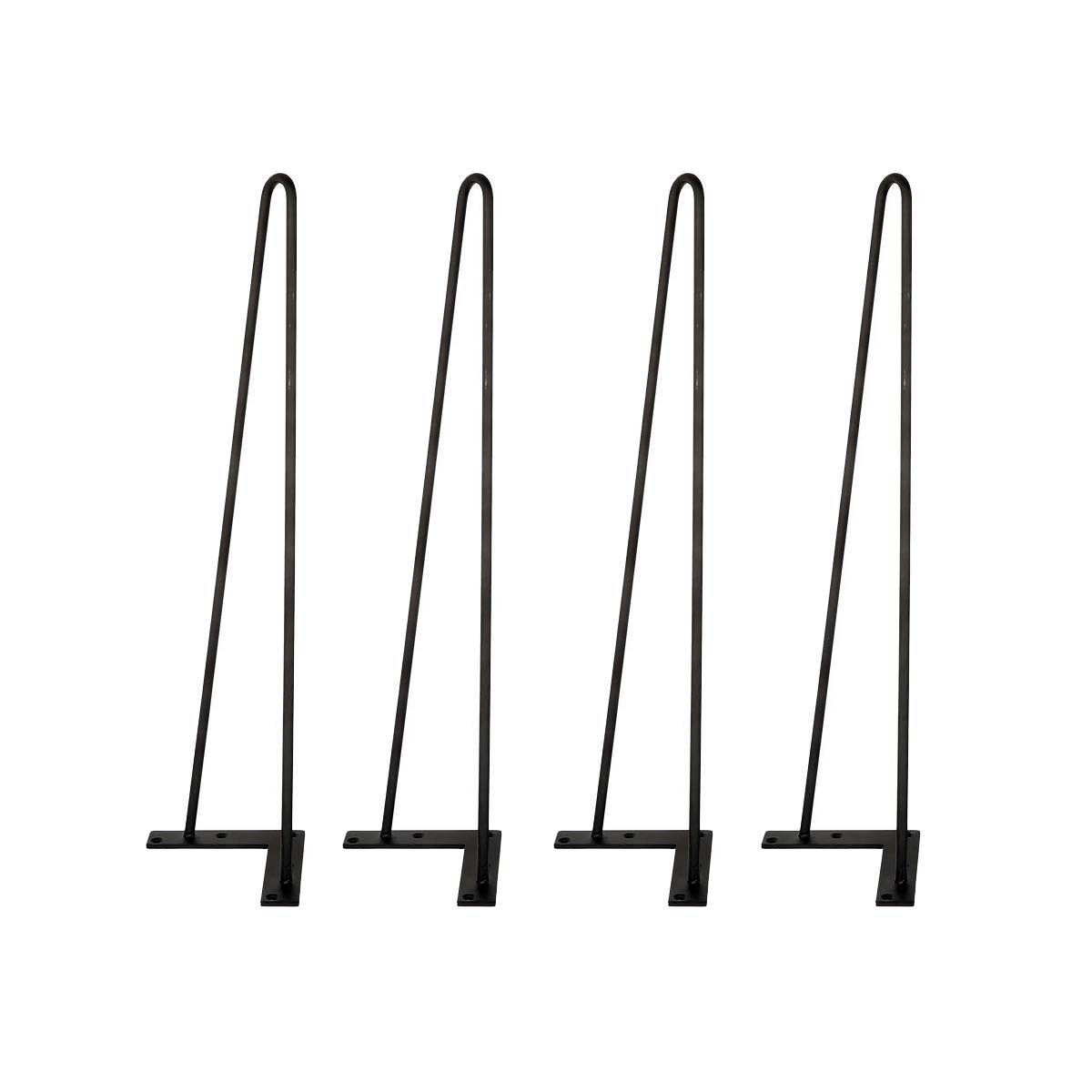 TC-Home Set of 4 3/8'' Solid Metal Bar Hairpin Table Legs 8'' 12'' 16'' 18'' 22'' 28'' (22'')