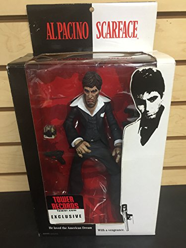 """Price comparison product image SCARFACE Al Pacino TOWER RECORDS EXCLUSIVE Tony Montana MEZCO 10"""" Action Figure"""