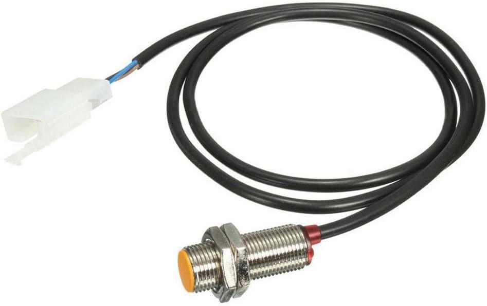 Broadroot Cavo del sensore dellodometro digitale con 3 magneti per il tachimetro del motociclo