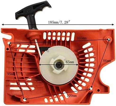 RENCALO Retroceso Arranque Arranque Arrancador Rojo para Motosierra China 4500 5200 5800 45cc 52cc 58cc