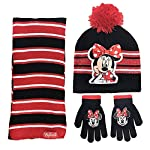 Disney Minnie Mouse Girls 3 Piece Beanie Hat Scarf and Glove Set [4015]