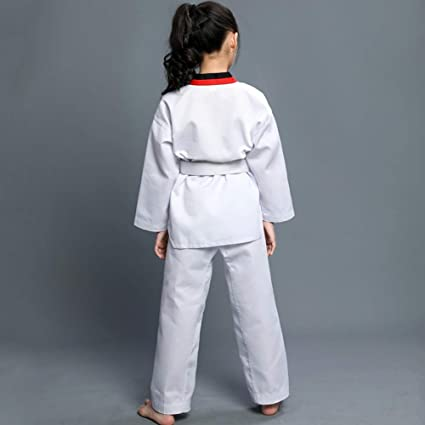 Gtagain Unisex Adulto Ni/ño Taekwondo Kimono Dobok Sudadera Uniforme Traje Gi Hombre Ropa Deportiva Artes Marciales Karate Kung Fu Conjuntos Cintur/ón Algod/ón//Poli/éster Manga Larga//Manga Corta