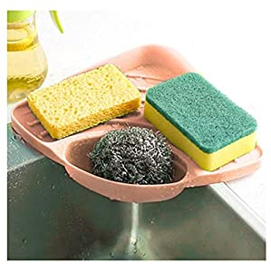 Kemilove Kitchen sink caddy sponge holder scratcher holder cleaning brush holder sink organizer