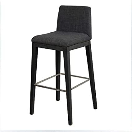 ALUS  Cushion Back Solid Wood High Chair/Wooden Foot Stool + 97cm High
