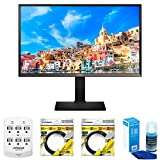 Samsung 32' WQHD LED Monitor (S32D850T) with Xtreme 6 Outlet Wall Tap w/ 2 USB Ports, 2x Xtreme 6 ft HDMI Cable & Xtreme Universal Screen Cleaner for LED TVs Large Bottle