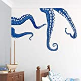 """Wallums Octopus Tentacles Printed Wall Decal - Repositionable - 48""""x34"""" - Blue"""
