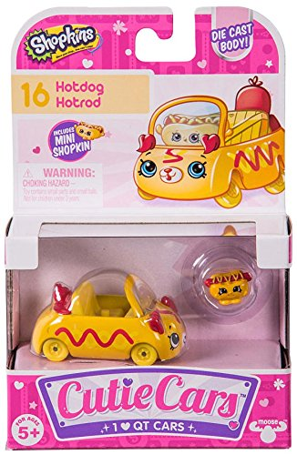 Shopkins Cutie Cars #16 Hotdog Hotrod with Mini Shopkin Exclusive