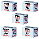Pack of 5 Ilford XP-2 Super 400 135-36 Black & White Film
