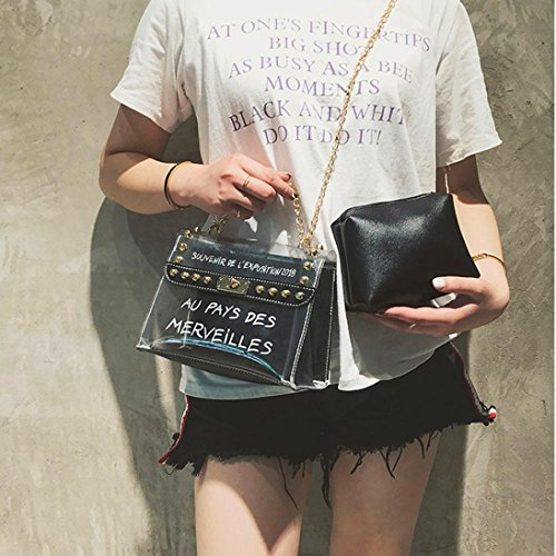Pop Jelly Black Bag Beach PVC BANAA shaped Shoulder Transparent Barrel Bag Summer Bags Messenger Candy Messenger qrFIrHw