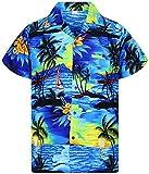 Funky Hawaiian Shirt, Surf, blue, XL