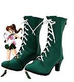 Sailor Moon Sailor Jupiter Makoto Kino Cosplay Shoes Boots Custom Made