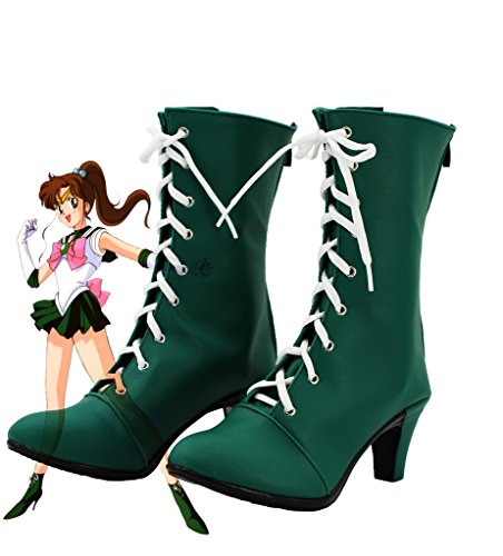Sailor Moon Sailor Jupiter Makoto Kino Cosplay Shoes Boots Custom Made