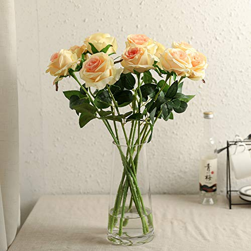 Nubry-10pcs-Artificial-Silk-Rose-Flower-Bouquet-Lifelike-Fake-Rose-for-Wedding-Home-Party-Decoration-Event-Gift-Champagne