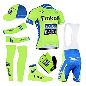 a9cb3b539 Saxo bank jersey Cycling Clothing includes full 2015 bike shorts with knitted  leg warmer and means