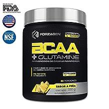 Aminoacidos BCAA + Glutamina + Complejo de Hidratación Hydragen (Calcio + Agua de Coco) Forzagen 330 g Piña Suplemento Gym (***Nueva Imagen, Nueva Fórmula***)