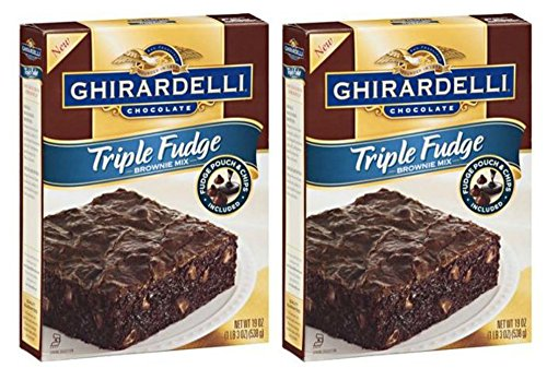 Ghirardelli Chocolate Premium Brownie Mix 2 Pack (Triple Fudge)